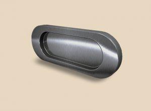 Ручка серебро глянец овальная Италия Черногорск