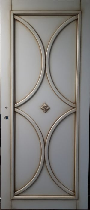 Межкомнатная дверь в профиле массив (эмаль с патиной) Черногорск