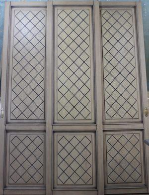 Двери для шкафа купе с фрезеровкой Черногорск